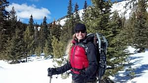 Outdoors snowshoeing